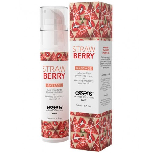 Exsens Strawberry Edible Warming Massage Oil HUSH Canada