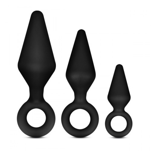 Blush Night Rimmer 3 Pc. Anal Plug Kit