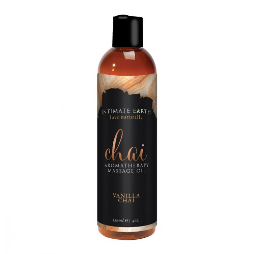 Intimate Earth Chai Aromatherapy Massage Oil 4oz
