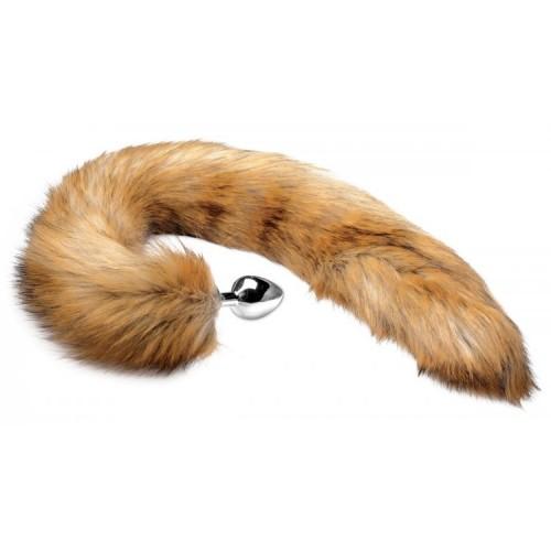 Tailz Extra Long Mink Tail Metal Butt Plug HUSH Canada