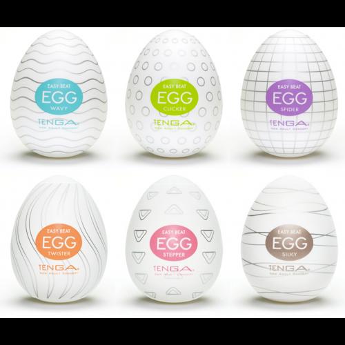 Tenga Egg Carton Disposable Masturbator Colors 6 Pack